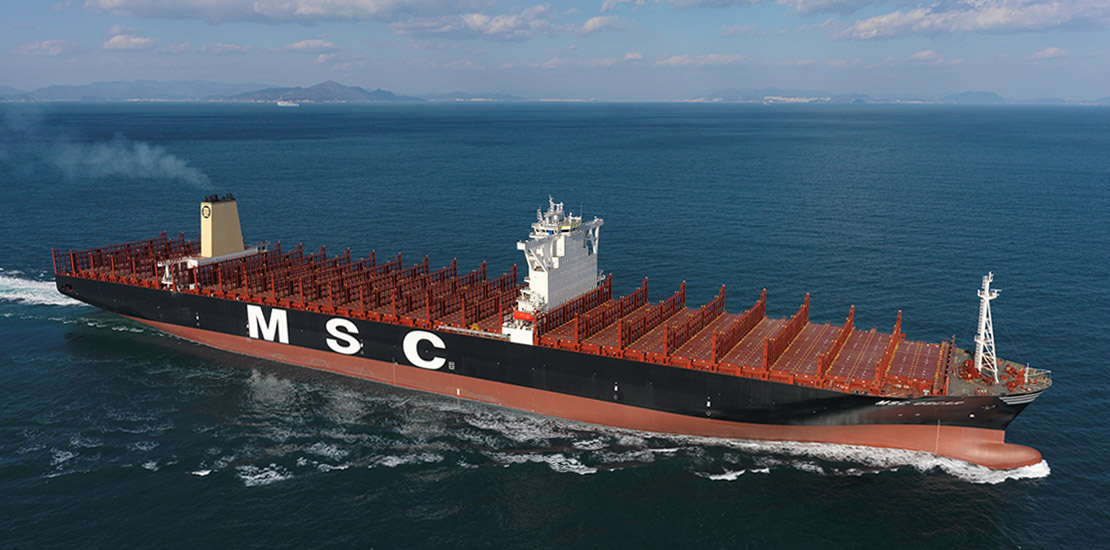 MSC Oscar at seatrial